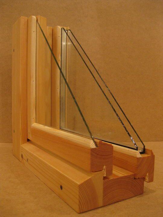 Изготовление деревянных окон с двойным остеклением